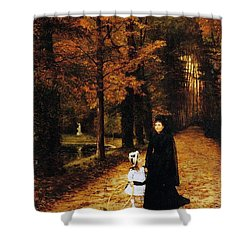 The Widow Shower Curtain by Horace de Callias