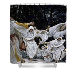 The Wise Virgins Shower Curtain by Tissot