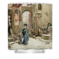 The Wolf Of Gubbio Shower Curtain by Luc Oliver Merson