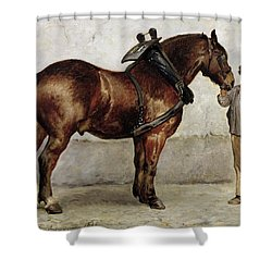 The Work Horse Shower Curtain by Otto Bache
