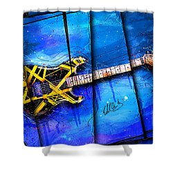 The Yellow Jacket Shower Curtain by Gary Bodnar