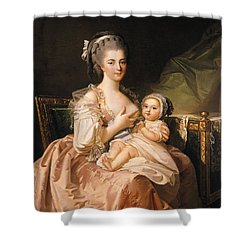 The Young Mother Shower Curtain by Jean Laurent Mosnier