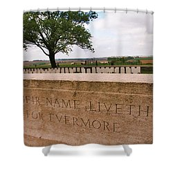 Shower Curtain featuring the photograph Their Name Liveth For Evermore by Travel Pics