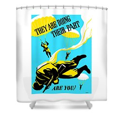 They Are Doing Their Part - Are You Shower Curtain by War Is Hell Store