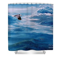 They Shall Mount Up On Wings Of Eagles Shower Curtain by Ann  Cockerill