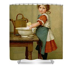 This Is The Way We Wash Our Clothes  Shower Curtain by George Dunlop Leslie