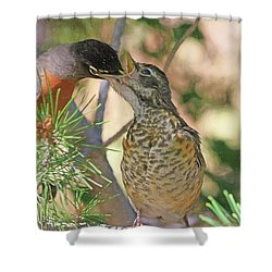 This Ones For You Shower Curtain by Donna Kennedy