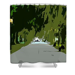 Thoroughfare Shower Curtain by David Lee Thompson