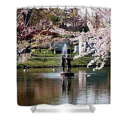Three Graces Shower Curtain by Kathleen Struckle