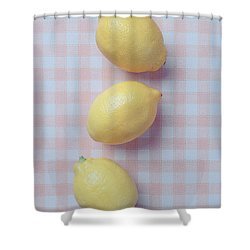 Three Lemons Shower Curtain by Edward Fielding