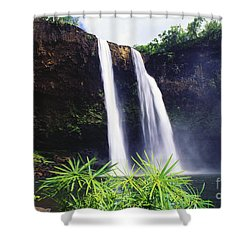 Three Waterfalls Shower Curtain by Peter French - Printscapes