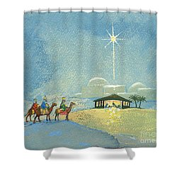 Three Wise Men Shower Curtain by David Cooke