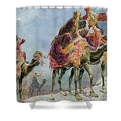 Three Wise Men Shower Curtain by Sydney Goodwin