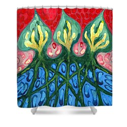 Three Shower Curtain by Wojtek Kowalski