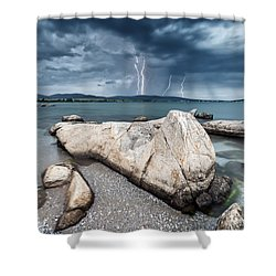 Thunderstorm  Shower Curtain by Evgeni Dinev