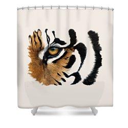 Tiger Eye Shower Curtain by Lucie Bilodeau