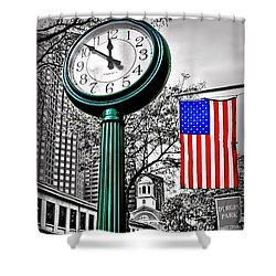 Time For Lunch Shower Curtain by DJ Florek