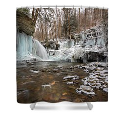Time Is A Stream Shower Curtain by Lori Deiter