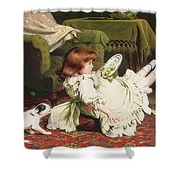 Time To Play Shower Curtain by Charles Burton Barber
