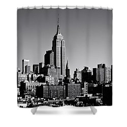 Timeless - The Empire State Building And The New York City Skyline Shower Curtain by Vivienne Gucwa