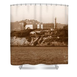 Timeless Alcatraz Shower Curtain by Carol Groenen