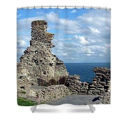 Tintagel Castle 1 Shower Curtain by Kurt Van Wagner