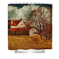 Tired Shower Curtain by Lois Bryan
