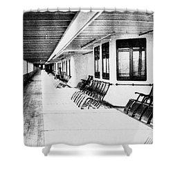 Titanic: Promenade Deck Shower Curtain by Granger