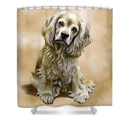 Toby Shower Curtain by Barbara Hymer