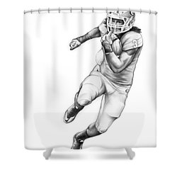 Todd Gurley Shower Curtain by Greg Joens