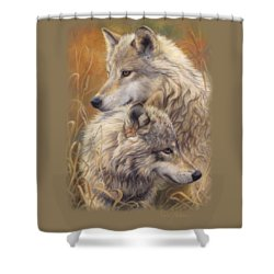 Together Shower Curtain by Lucie Bilodeau