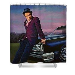 Tom Waits Shower Curtain by Paul Meijering