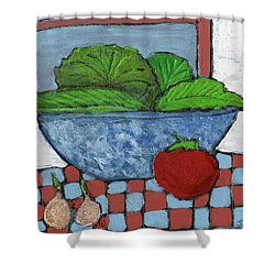Tonight's Salad Shower Curtain by Wayne Potrafka