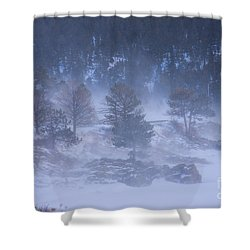 Top Of Boulder Canyon Winter Snow Shower Curtain by James BO  Insogna
