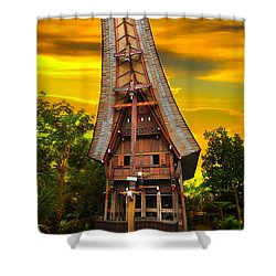 Toraja Architecture Shower Curtain by Charuhas Images