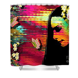 Totality Shower Curtain by Ramneek Narang