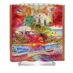 Tour Around Aguadilla Puerto Rico Shower Curtain by Estela Robles