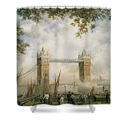 Tower Bridge - From The Tower Of London Shower Curtain by Richard Willis