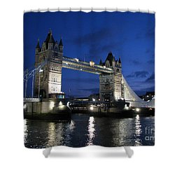 Tower Bridge Shower Curtain by Amanda Barcon
