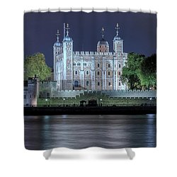 Tower Of London Shower Curtain by Joana Kruse