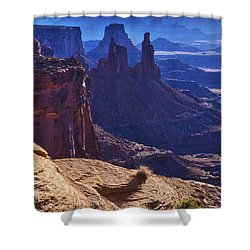 Tower Sunrise Shower Curtain by Chad Dutson