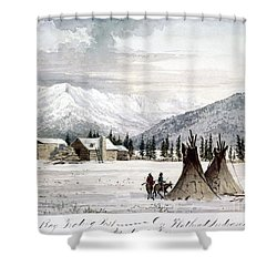 Trading Outpost, C1860 Shower Curtain by Granger