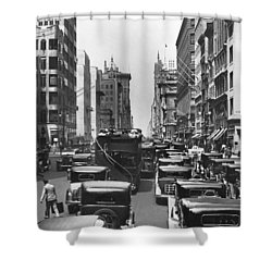 Traffic On Fifth Avenue Shower Curtain by Underwood Archives