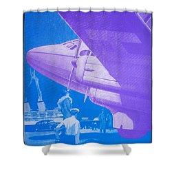 Travel Air Land Sea Shower Curtain by David Studwell