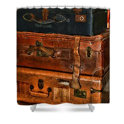 Travel - Old Bags Shower Curtain by Paul Ward