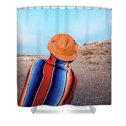 Traveler Shower Curtain by Evgeniya Lystsova
