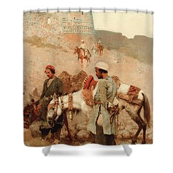 Traveling In Persia Shower Curtain by Edwin Lord Weeks