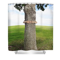 Tree Hugger 3 Shower Curtain by Brandon Tabiolo - Printscapes