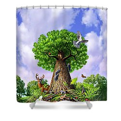 Tree Of Life Shower Curtain by Jerry LoFaro