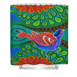 Tree Sparrow Shower Curtain by Jane Tattersfield